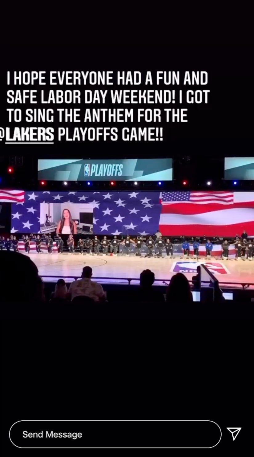 Listen To Your Heart S Rudi Sings National Anthem Before Nba Playoff Game